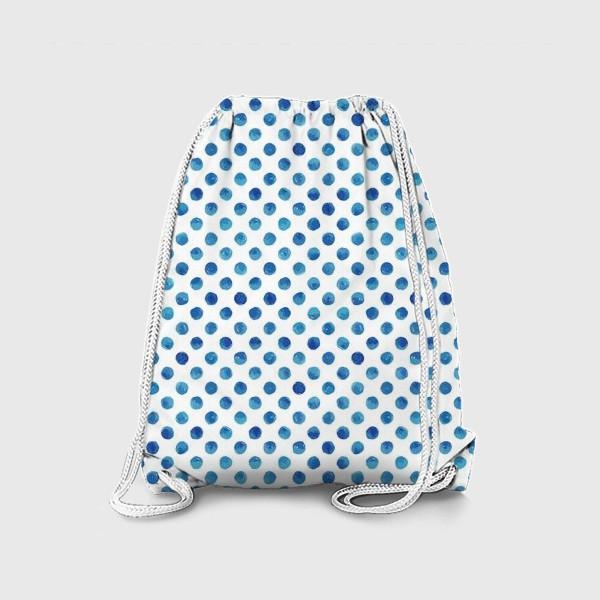 Рюкзак «Горох голубой, паттерн»