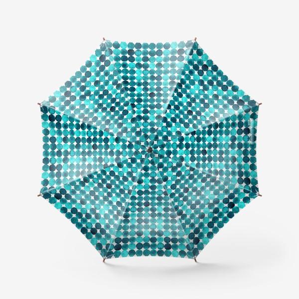 Зонт «Изумрудный паттерн, круги»