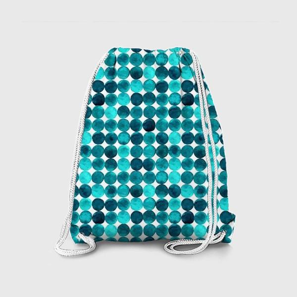 Рюкзак «Изумрудный паттерн, круги»
