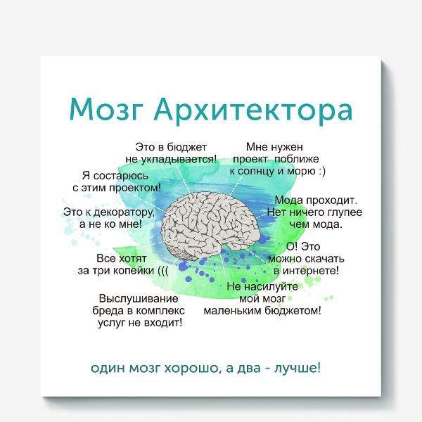 Холст «Мозг Архитектора»