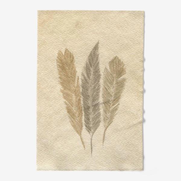 Полотенце « Кофейные перья »
