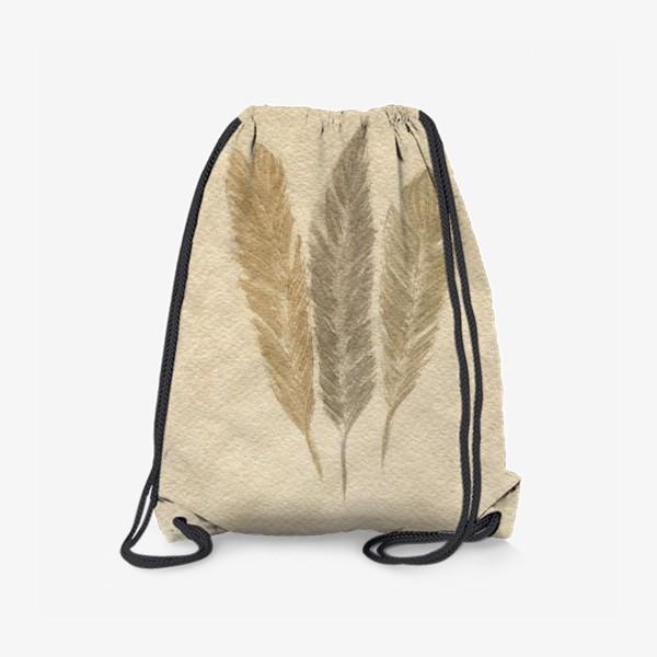 Рюкзак « Кофейные перья »
