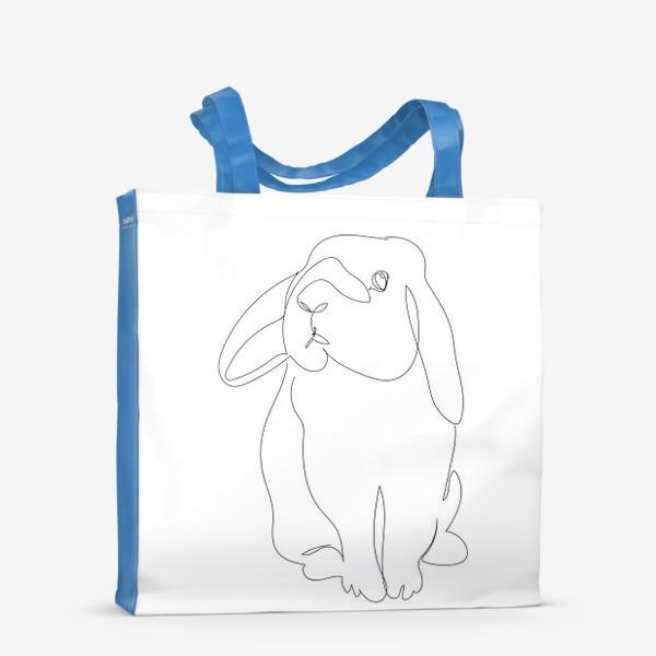 Сумка-шоппер «Кролик. Графика. Линейный рисунок»
