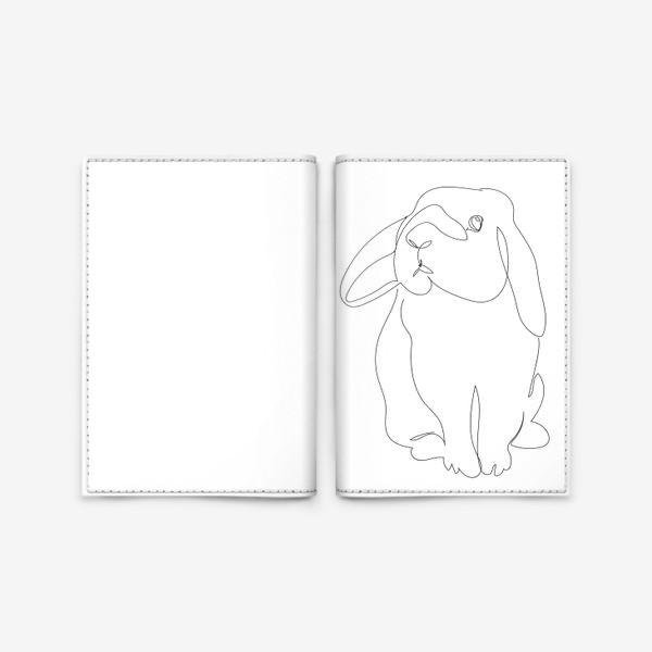 Обложка для паспорта «Кролик. Графика. Линейный рисунок»