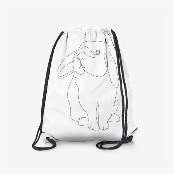 Рюкзак «Кролик. Графика. Линейный рисунок»