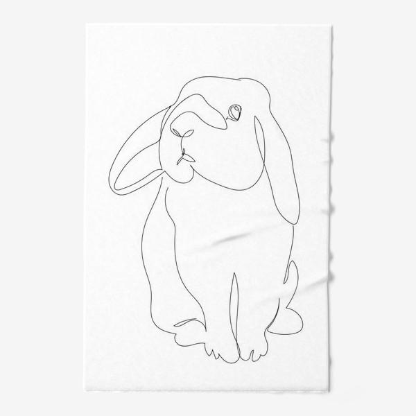 Полотенце «Кролик. Графика. Линейный рисунок»
