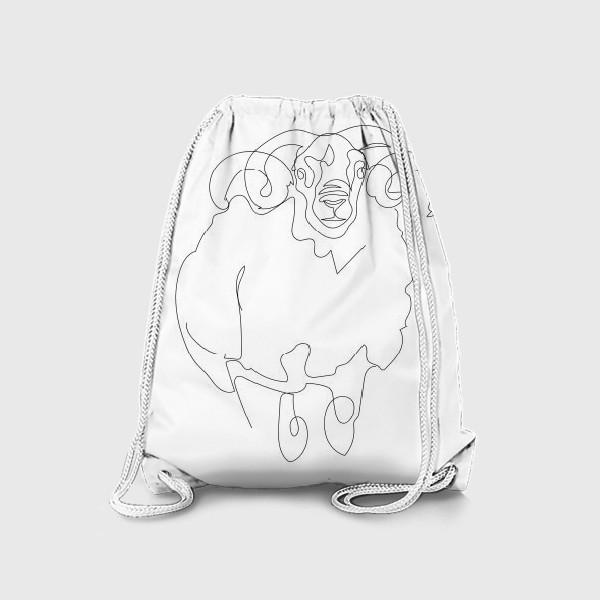 Рюкзак «Линейный рисунок. Баран.»
