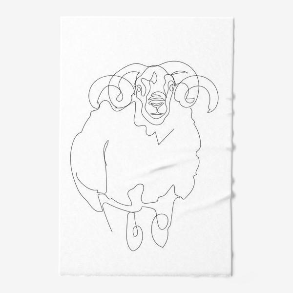 Полотенце «Линейный рисунок. Баран.»