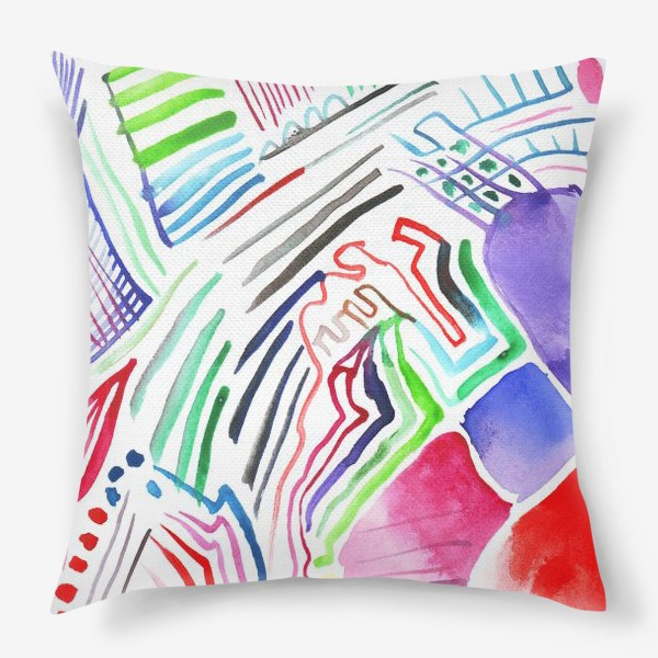 Подушка «Цветная абстракция»