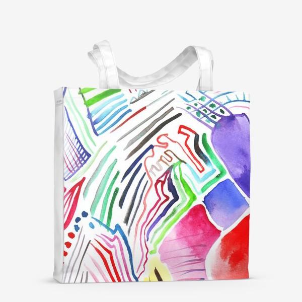 Сумка-шоппер «Цветная абстракция»