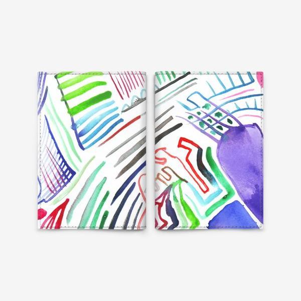 Обложка для паспорта «Цветная абстракция»
