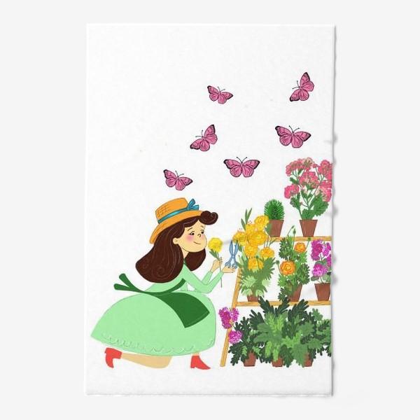 Полотенце «Бабочки и цветы»