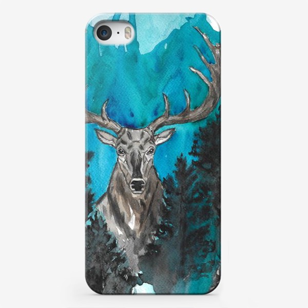 Чехол iPhone «Олень с большими рогами»