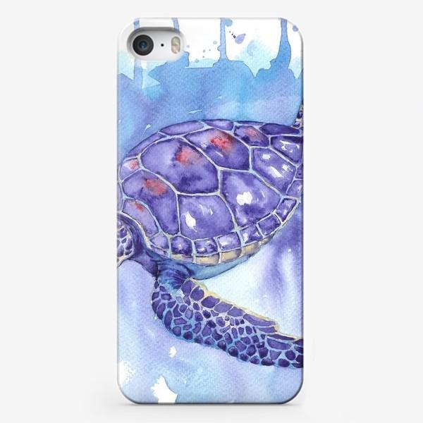 Чехол iPhone «Черепаха в океане»