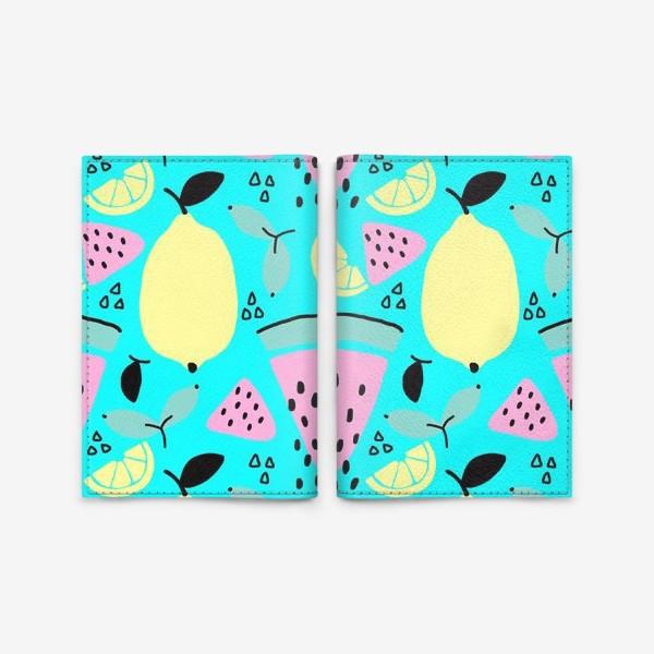 Обложка для паспорта «Сочные и яркие фрукты»