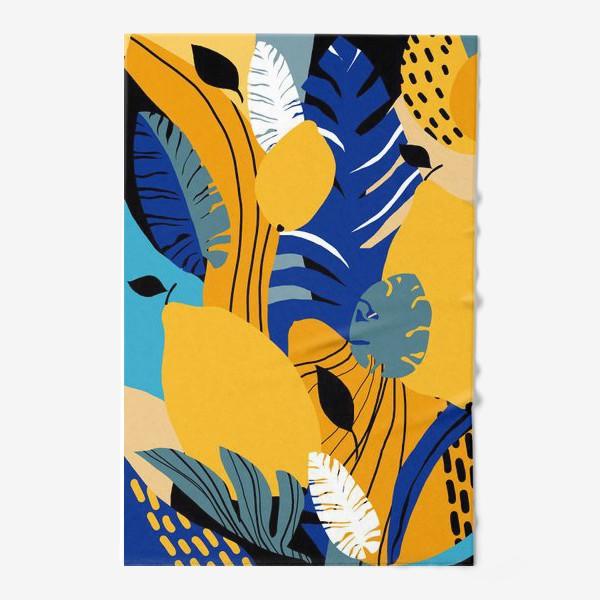 Полотенце «Летняя абстракция тропические листья и фрукты»