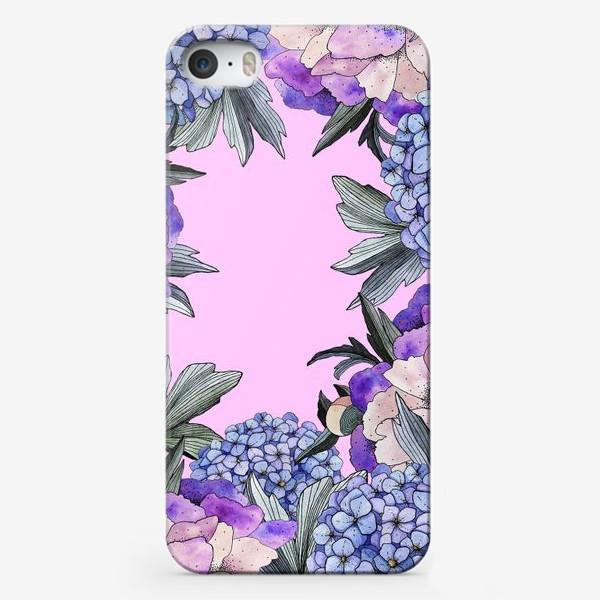 Чехол iPhone «Пионы и гортензии»