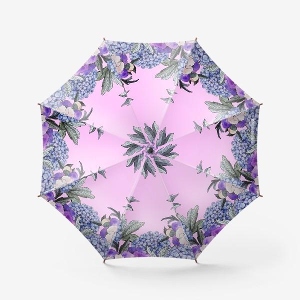 Зонт «Пионы и гортензии»