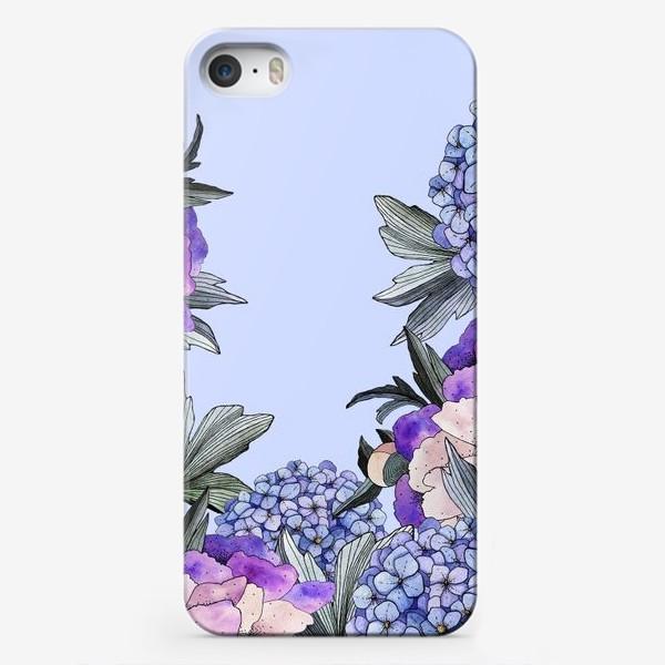 Чехол iPhone «Гортензии и пионы»