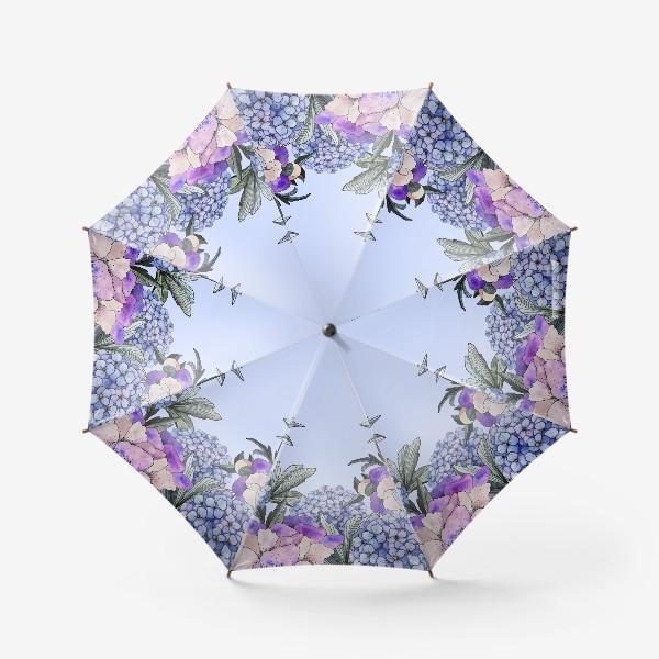 Зонт «Гортензии и пионы»