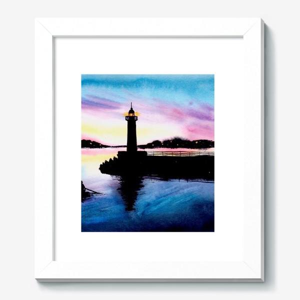 Картина «Акварельный пейзаж с маяком.»