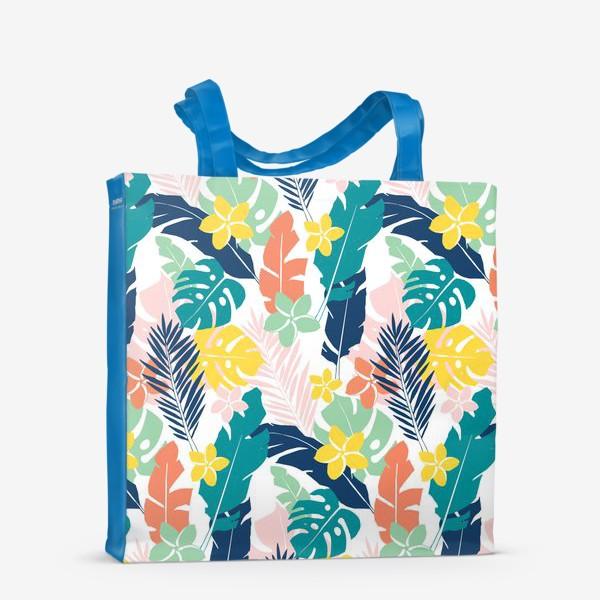 Сумка-шоппер «Тропические листья. паттерн»