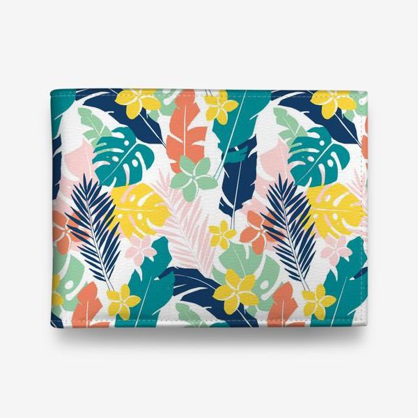 Кошелек «Тропические листья. паттерн»