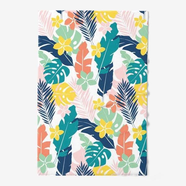 Полотенце «Тропические листья. паттерн»