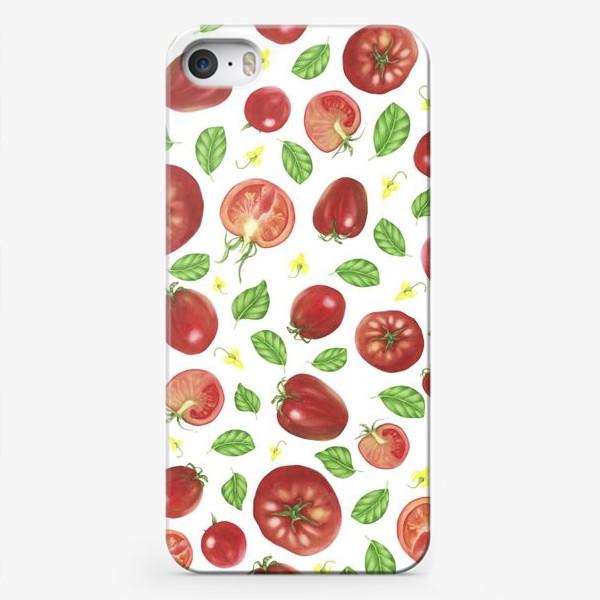 Чехол iPhone «Томаты и базилик»