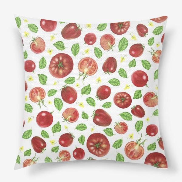 Подушка «Томаты и базилик»
