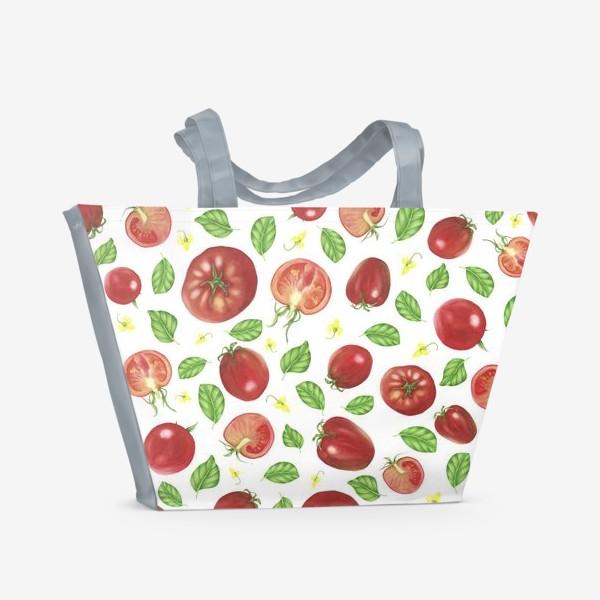Пляжная сумка «Томаты и базилик»