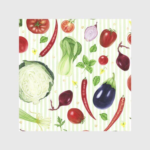 Шторы «Овощной принт»