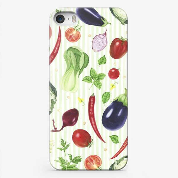 Чехол iPhone «Овощной принт»