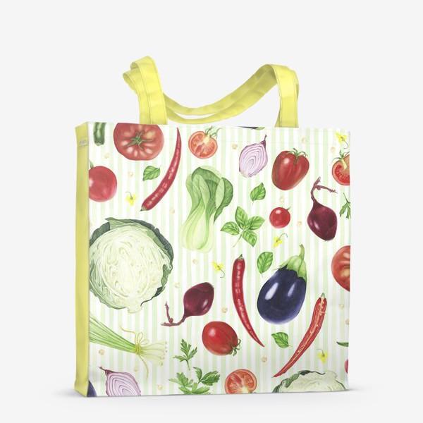 Сумка-шоппер «Овощной принт»