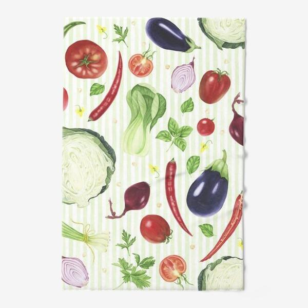 Полотенце «Овощной принт»