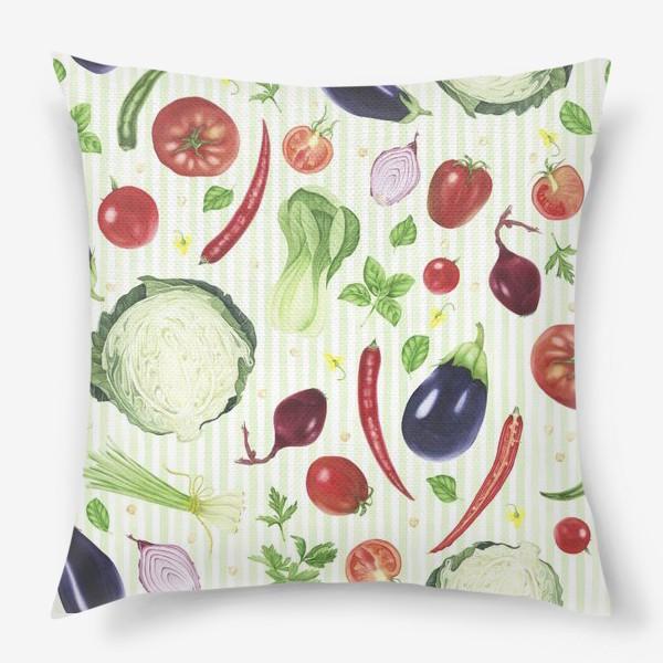 Подушка «Овощной принт»