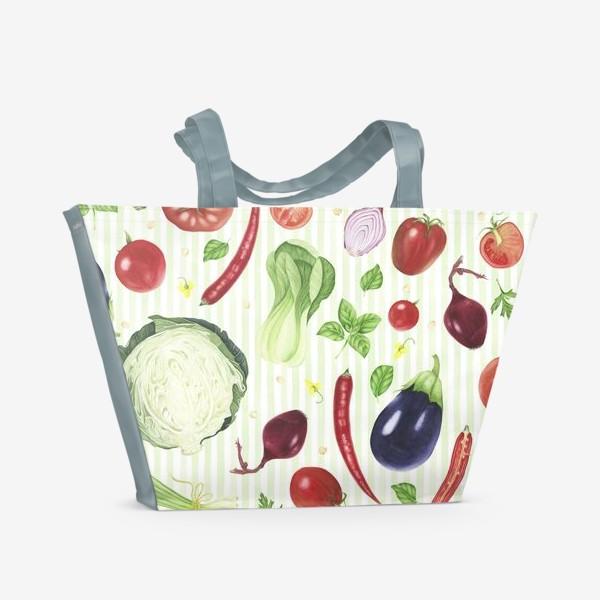 Пляжная сумка «Овощной принт»