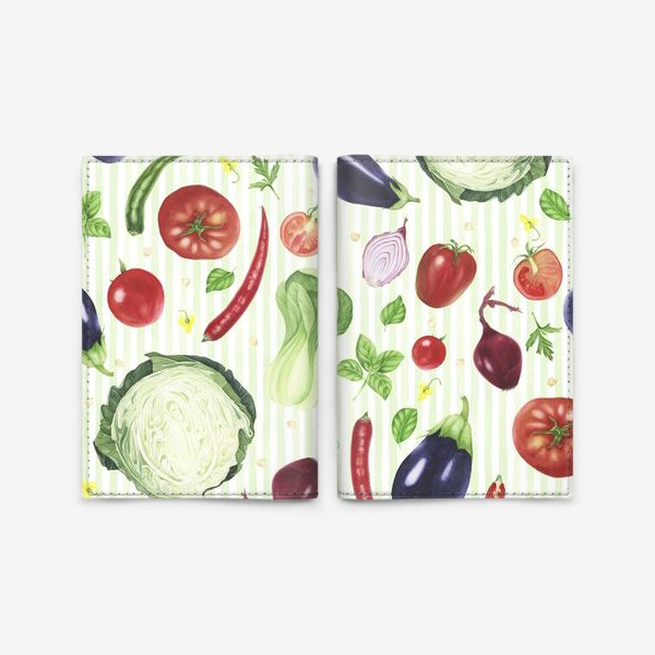 Обложка для паспорта «Овощной принт»