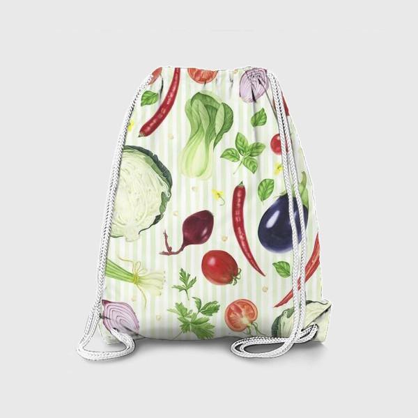 Рюкзак «Овощной принт»