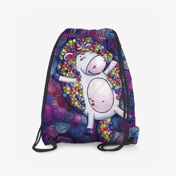 Рюкзак «Единорог с клубочками пряжи»