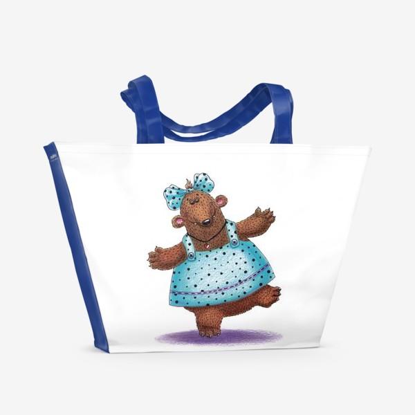Пляжная сумка «Медведица в платье»