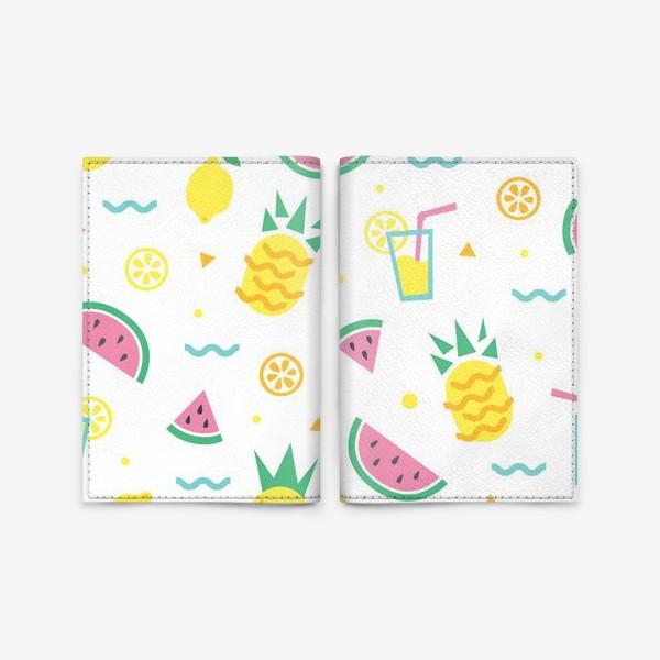 Обложка для паспорта «Летний принт»