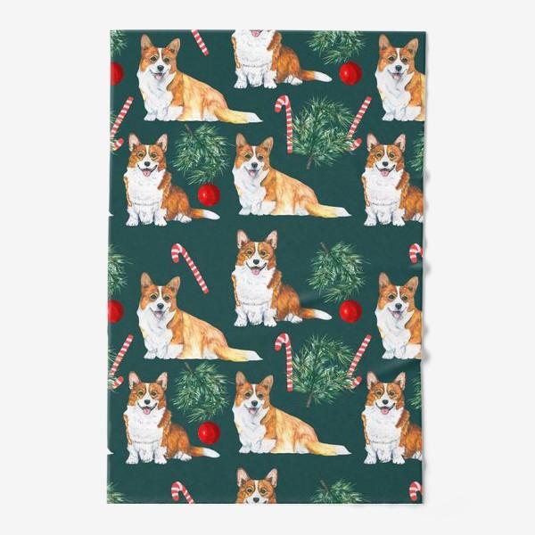 Полотенце «Новогодние собаки »