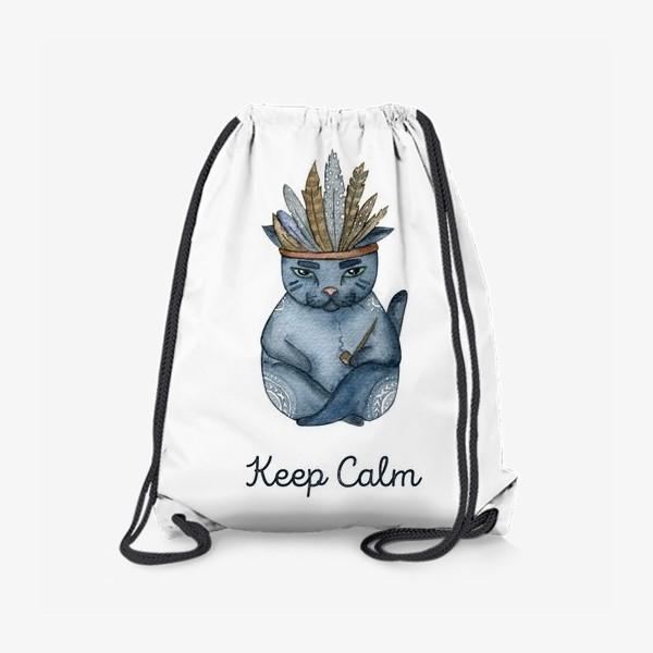 Рюкзак «Магический кот-индеец, подарок для любителей котов»
