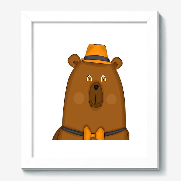 Картина «медведь в шляпе »