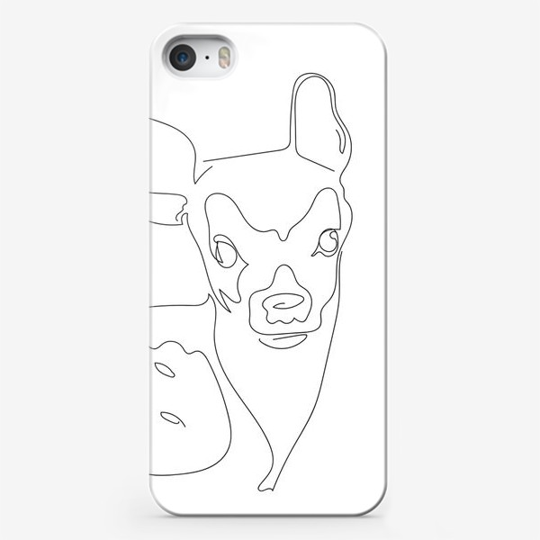 Чехол iPhone «Олененок. Графика. Линейный рисунок»