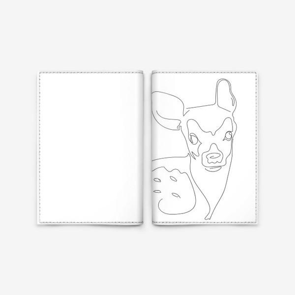 Обложка для паспорта «Олененок. Графика. Линейный рисунок»