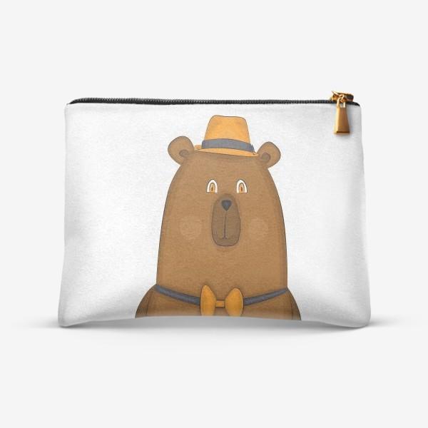 Косметичка «медведь в шляпе »