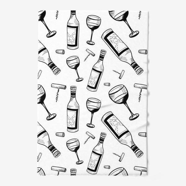 Полотенце «Паттерн вино»