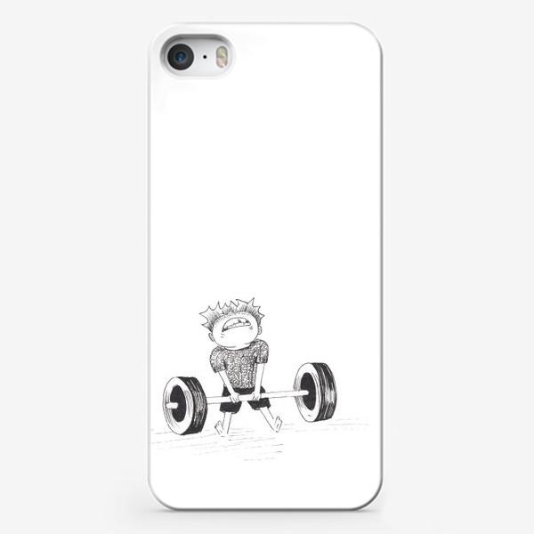 Чехол iPhone «Силач»